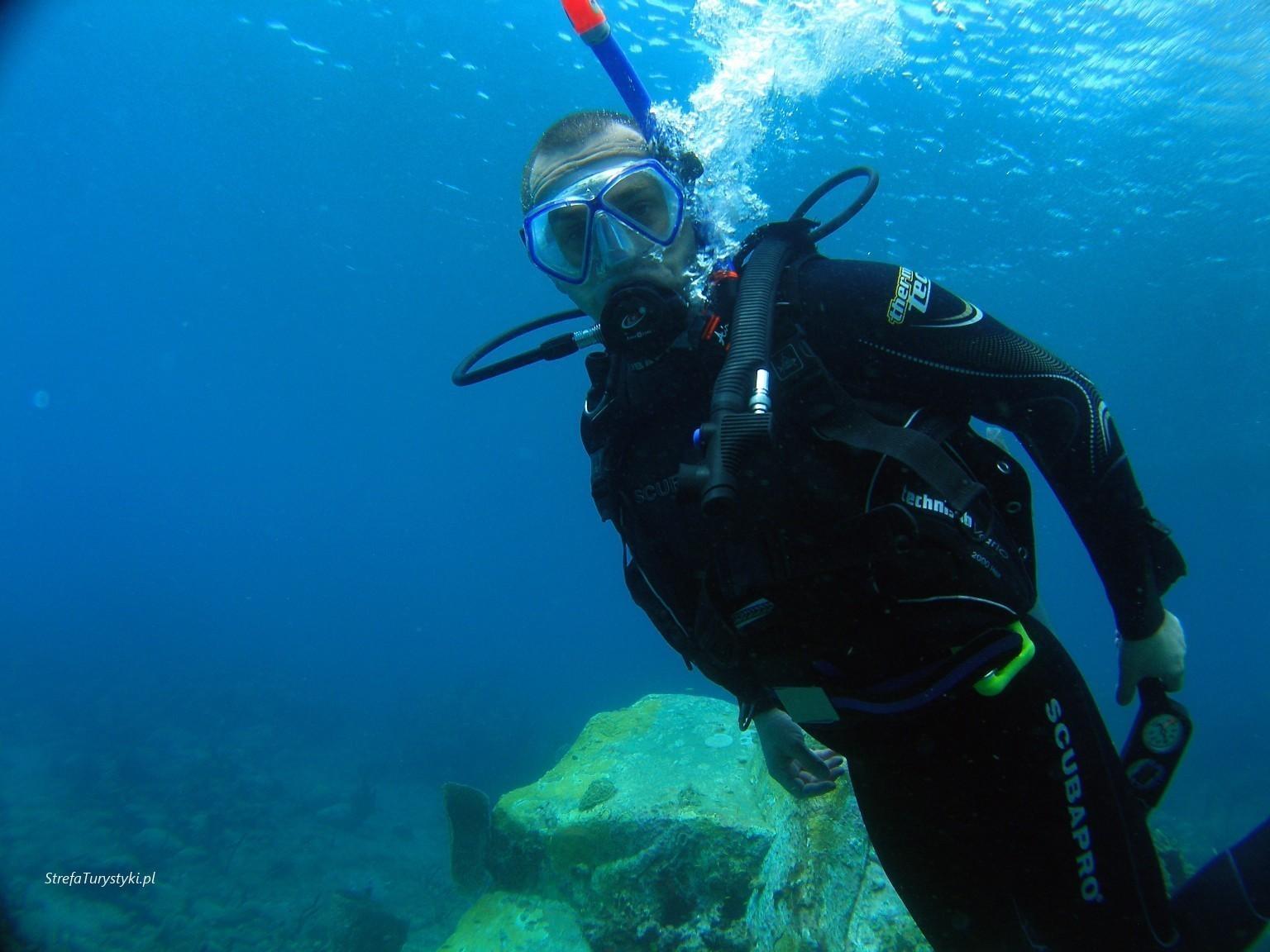 Jacek Karaiby nurkowanie