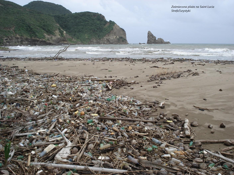 Zapomniana plaża Saint Lucia